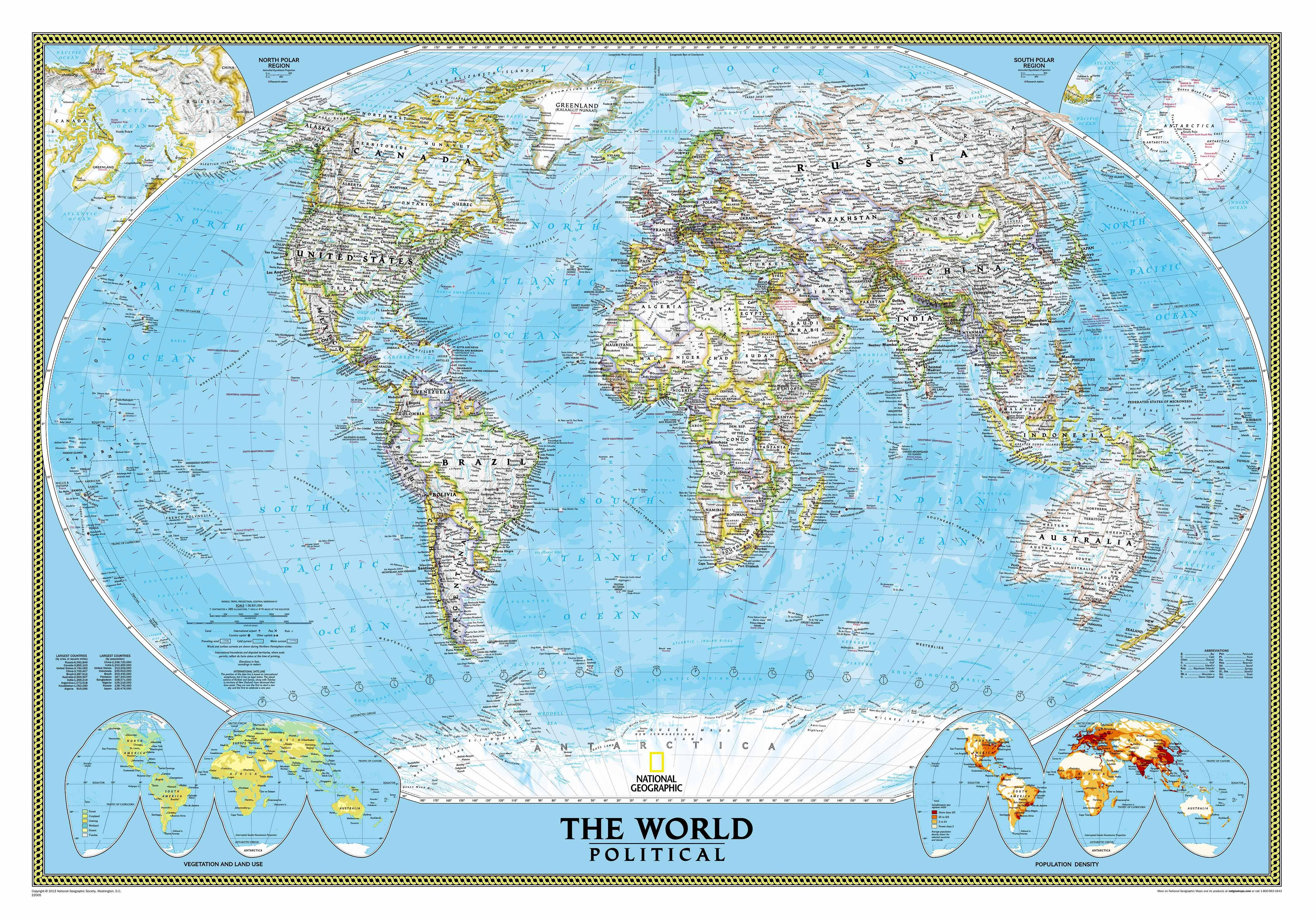 World map political world map mural 3 sizes two color choices world map political world map mural 3 sizes two color choices gumiabroncs Image collections