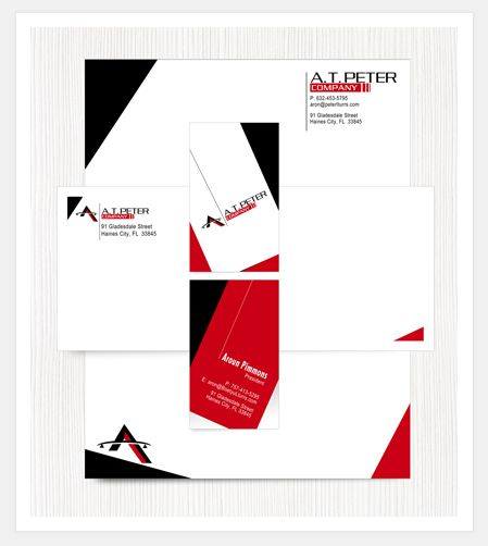 Letterhead business card envelope design portfolio stationery business cards reheart Gallery