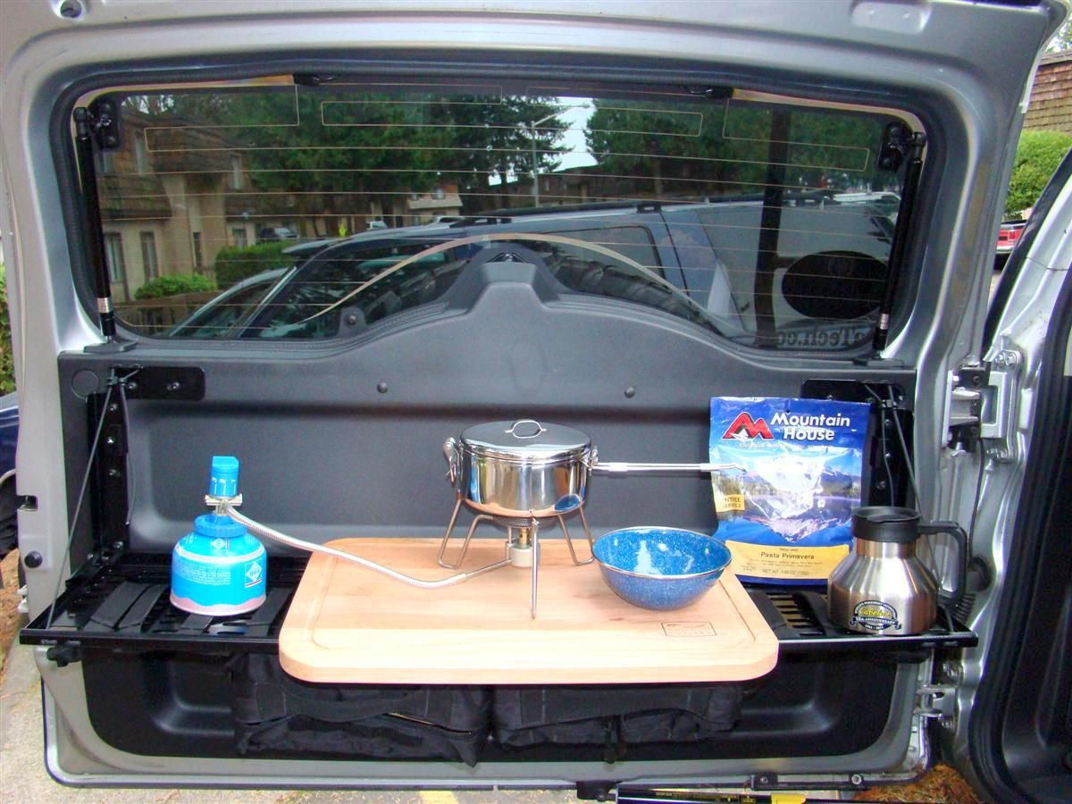 Collapsible Car Doors : Springtail folding rear door mpac molle rack expedition