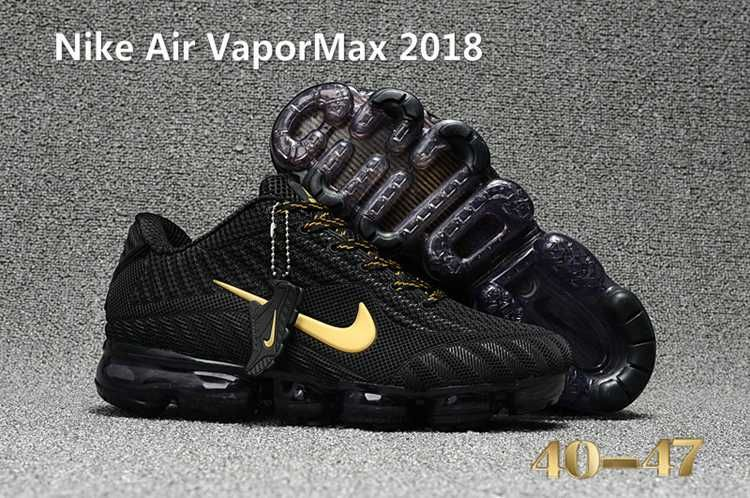 pretty nice 86887 16ecd Nike Air Vapor MAX 2018 KPU Running Men Black Gold 40-47 ...