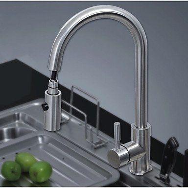 YM Wasserhahn Nickel gebürstet Pull Out Küchenarmatur Hot \ Cold - küchenarmaturen edelstahl gebürstet