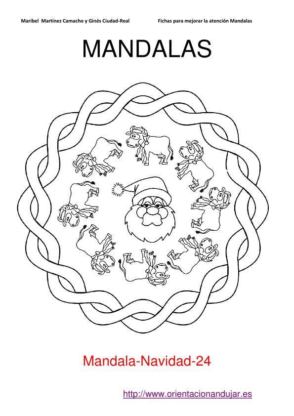 mandales de nadal mandales infantils pinterest malen. Black Bedroom Furniture Sets. Home Design Ideas