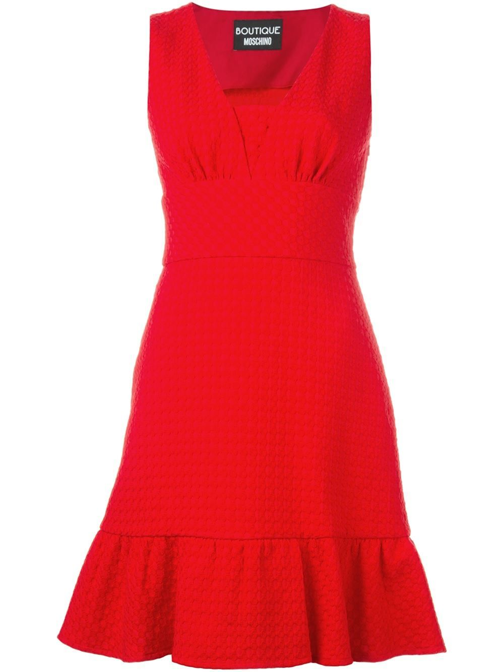 Boutique Moschino flared hem sleeveless dress