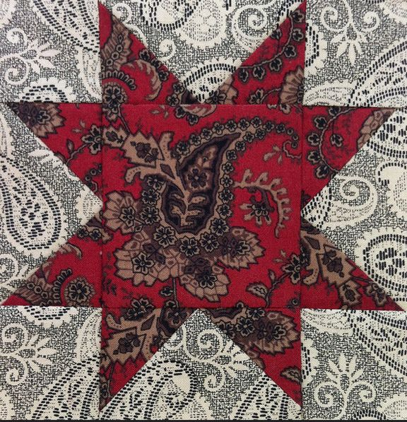 Civil War Quilts: Stars in a Time Warp 37: Chocolate & Blue plus Lace Prints