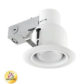 Utilitech White With Baffle Remodel Recessed Light Kit