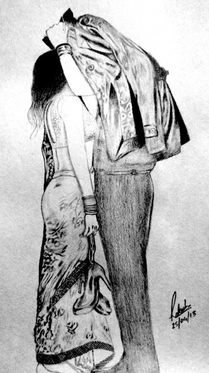 Aashiqui 2 sketching by rakesh chauhan at touchtalent 61114