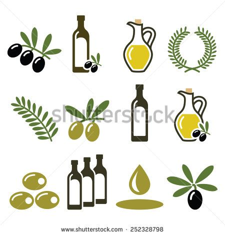 Olive Oil Olive Branch Icons Set Olive Branch Embroider Ideas Icon Set