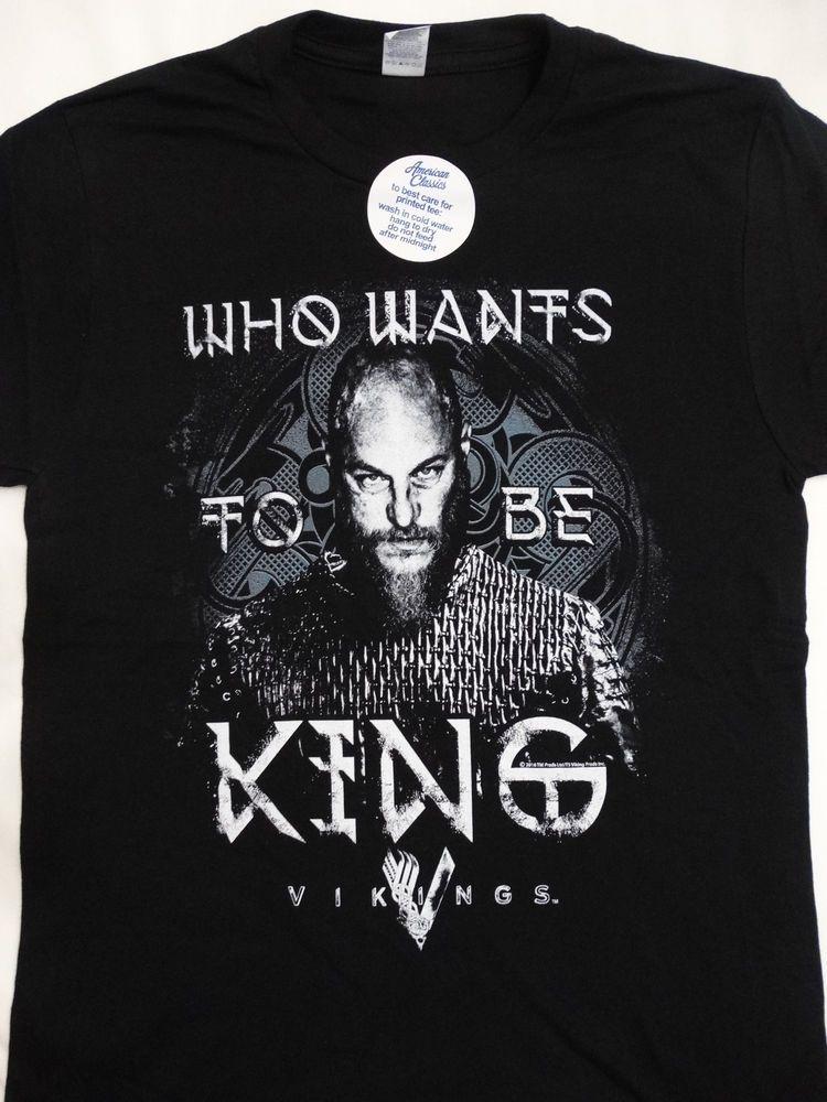 50308d90 Vikings History Tv Show Who Wants To Be King T-Shirt #Vikings #TShirt