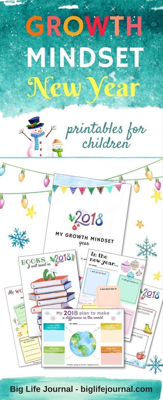 GROWTH MINDSET NEW YEAR KIT! This set of 15 printable