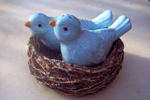 Blue Birds Nesting-Wisteria Collection-Home Interiors... 15.00, via Etsy.