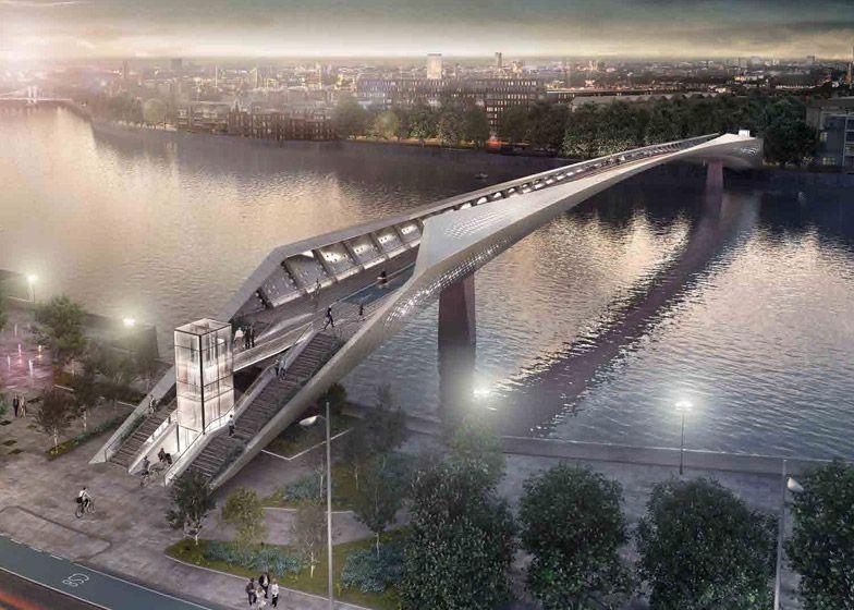 Designs for elms bridge over london 39 s river thames for Design bridge london