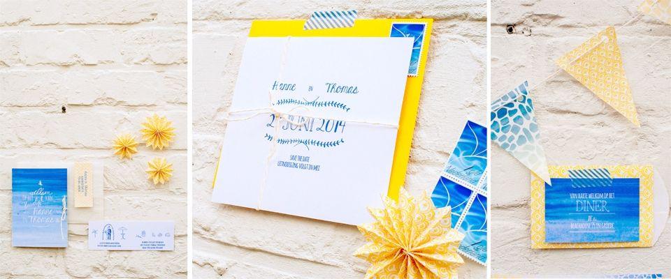 Beach wedding stationery | styling: StyleStek #wedding #beach #stationary