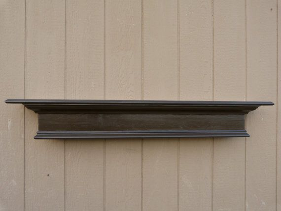 Expresso Brown 48l Mantle Floating Shelf By Rusticprairiecottage