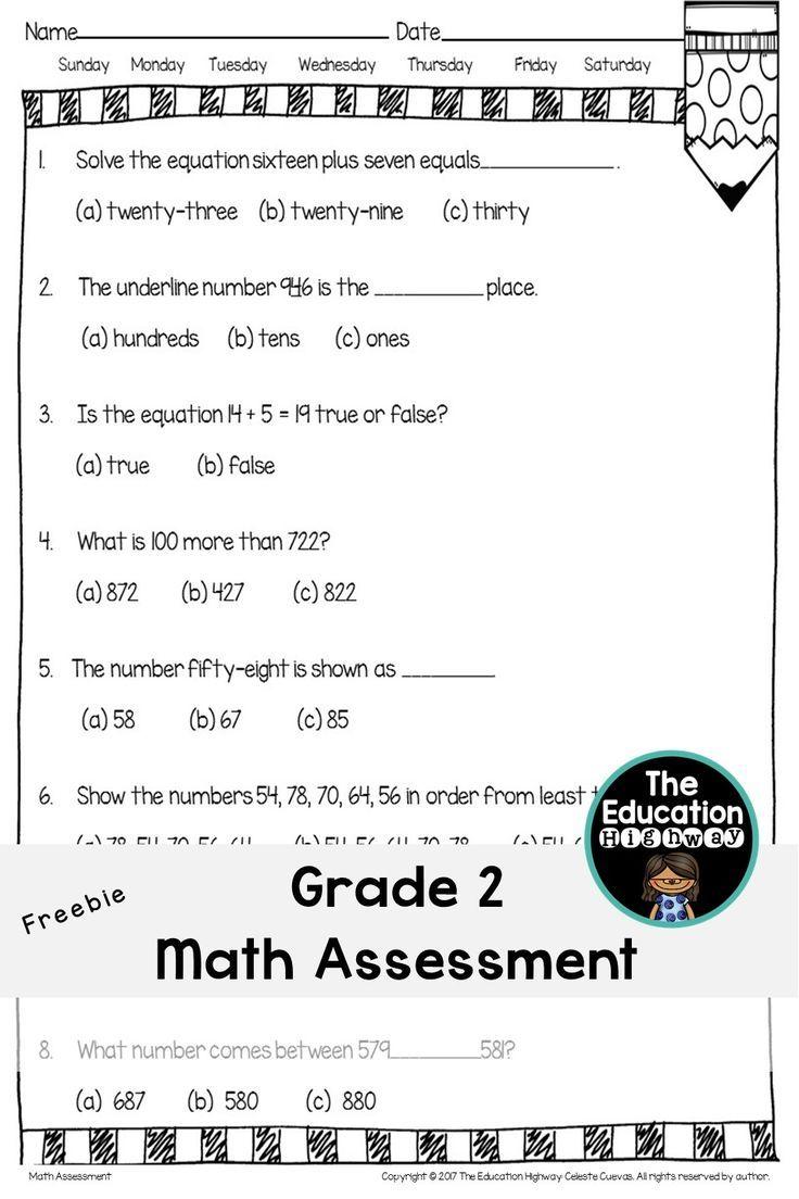 Math Assessment Grade 2 Math Assessment Education Quotes Math [ 1104 x 736 Pixel ]