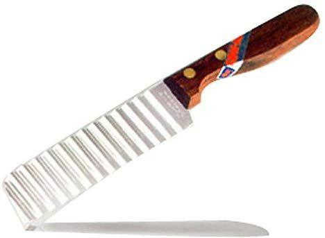 Crinkle Cutter Messer Holzgriff 019 Amazon De Kuche