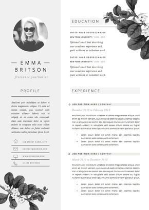Resume Template 5 Pages Cv Template Cover Letter References For Ms Word Instant Digital Download The Petal Creative Cv Cv Template Resume Design