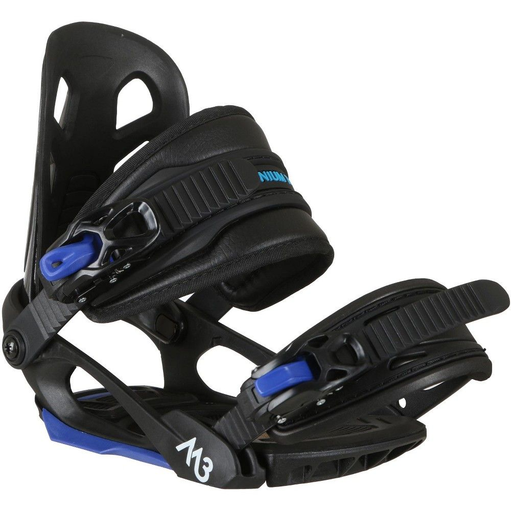 M3 Helix Jr. Snowboard Bindings Kids Sz S/M (3-6), Black