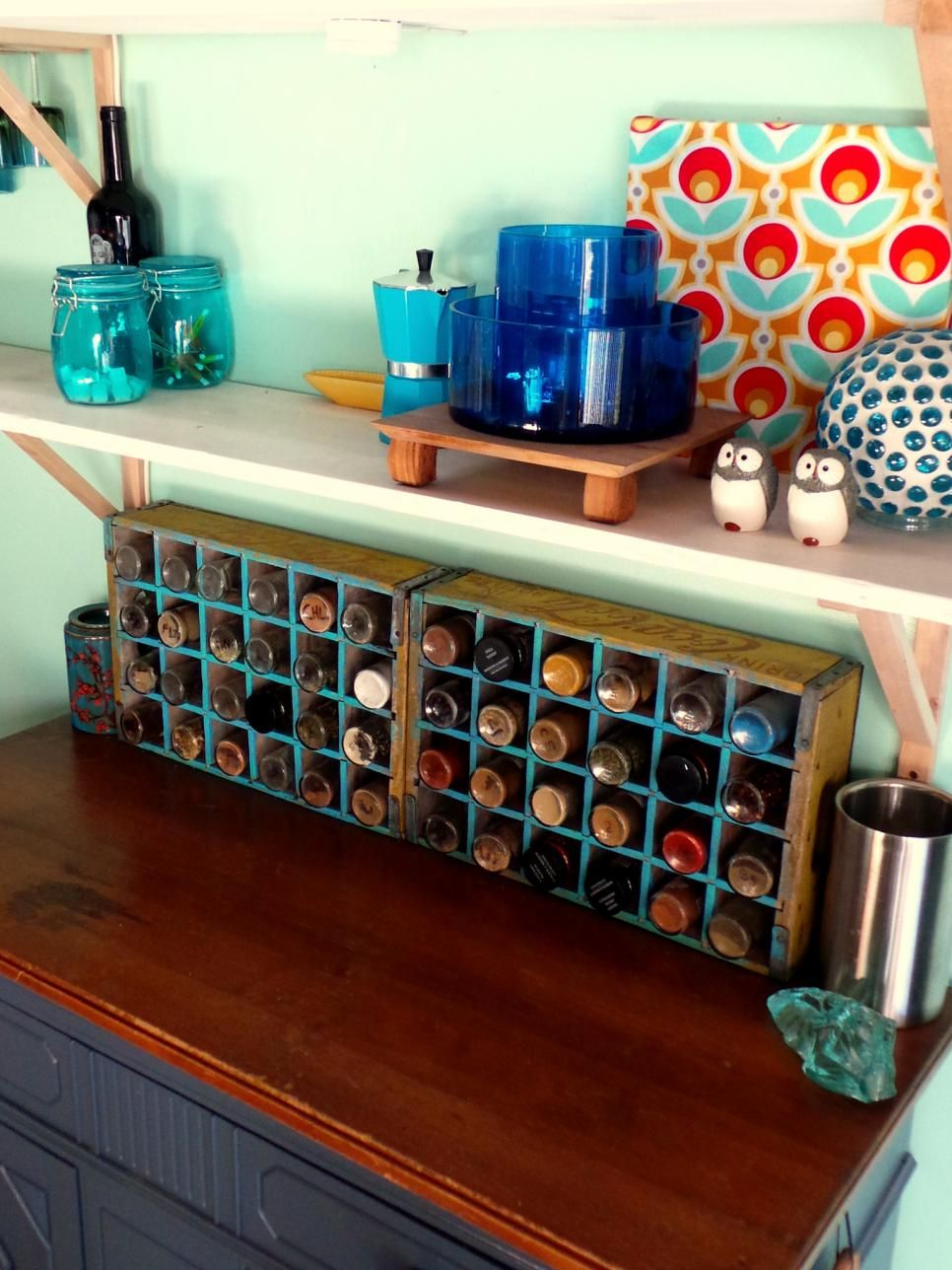 Keep your spices organized and easily accessible with these clever spice storage solutions from HGTV.com from DIY and upcycled creations to tried-and-true ... & 15 Creative Spice Storage Ideas | Pinterest | Clever Organizing and ...