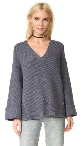 FREE PEOPLE La Brea V Neck Sweater. #freepeople #cloth #dress #top