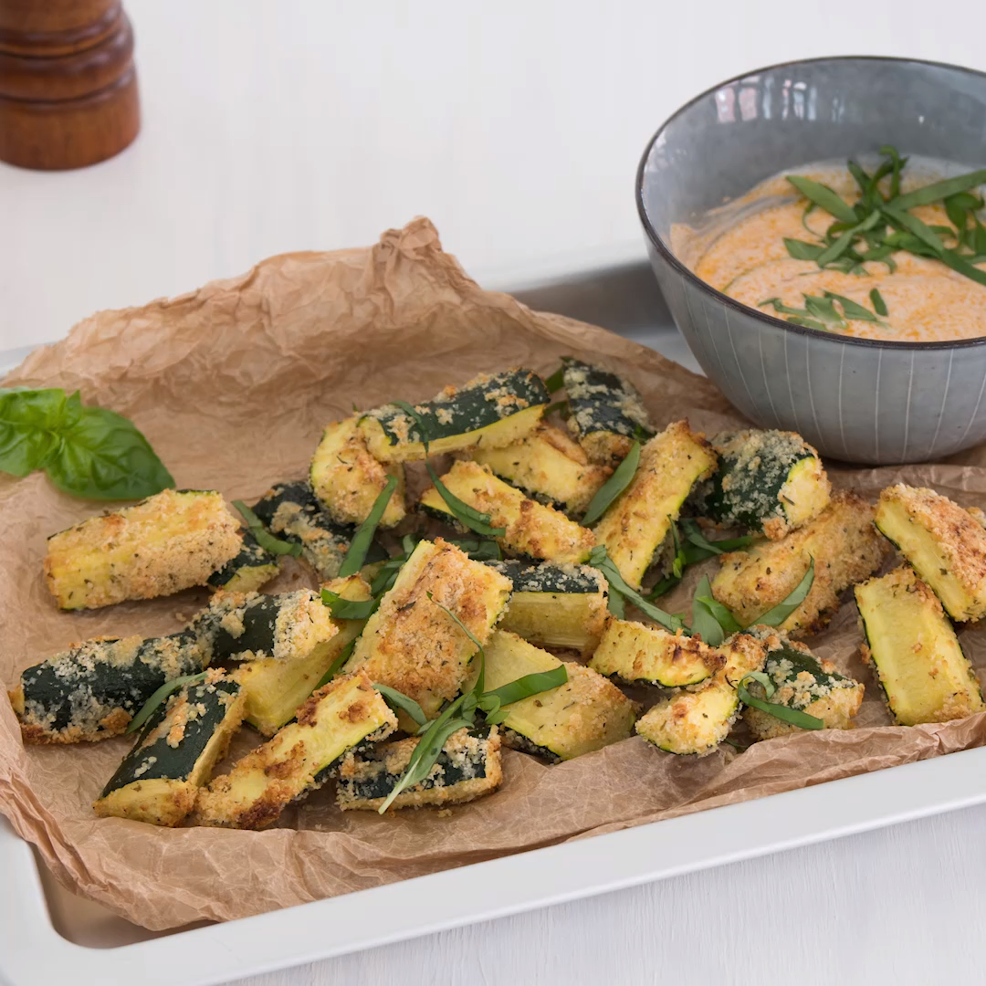 Photo of Zucchini wedges with pesto dip