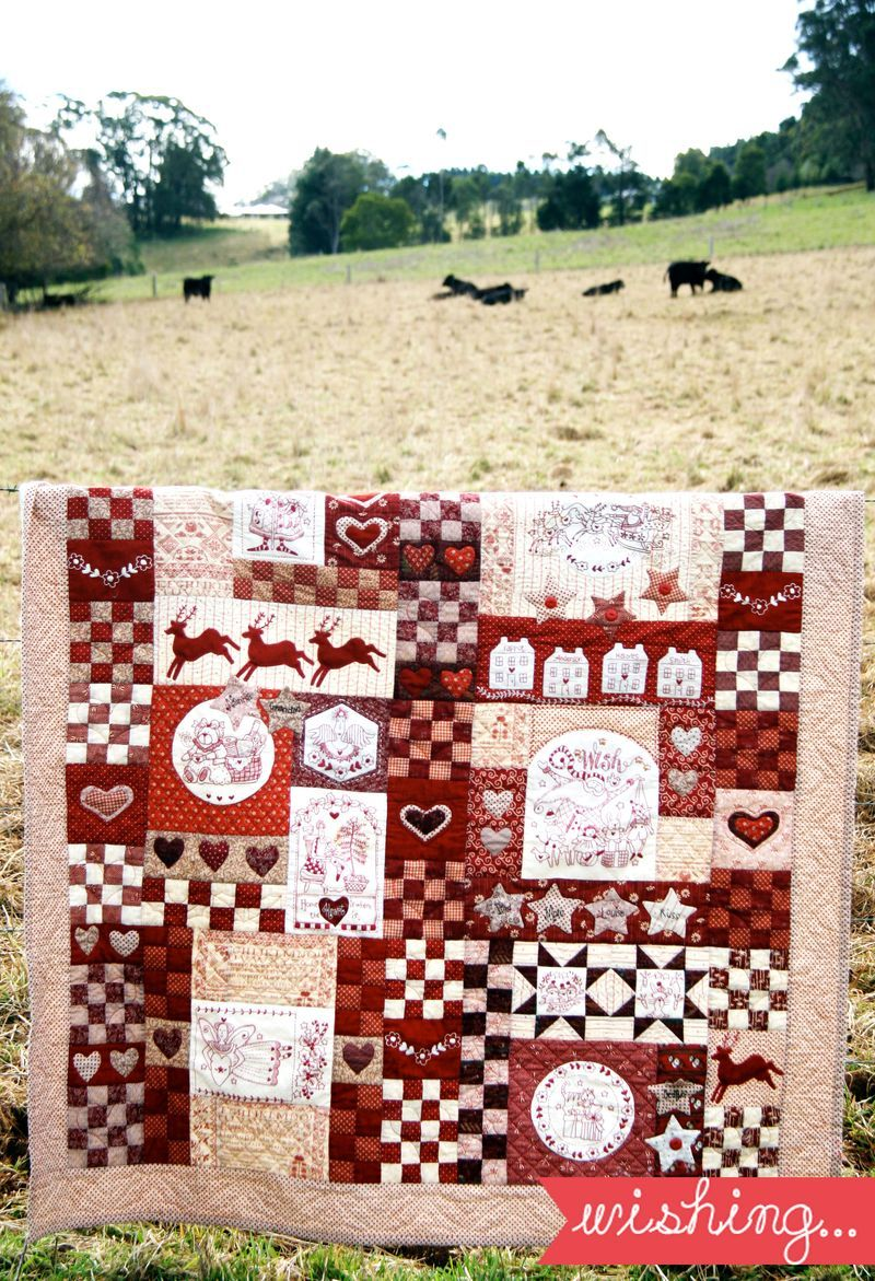 Christmas Wish Quilt by Red Brolly free pattern | Bronwyn Hayes ... : red brolly wish quilt - Adamdwight.com