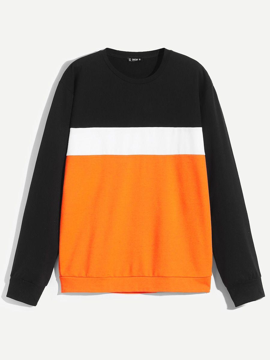 Men Color Block Sweatshirt Shein Sheinside Sweatshirts Color Block Sweatshirt Mens Sweatshirts [ 1199 x 900 Pixel ]