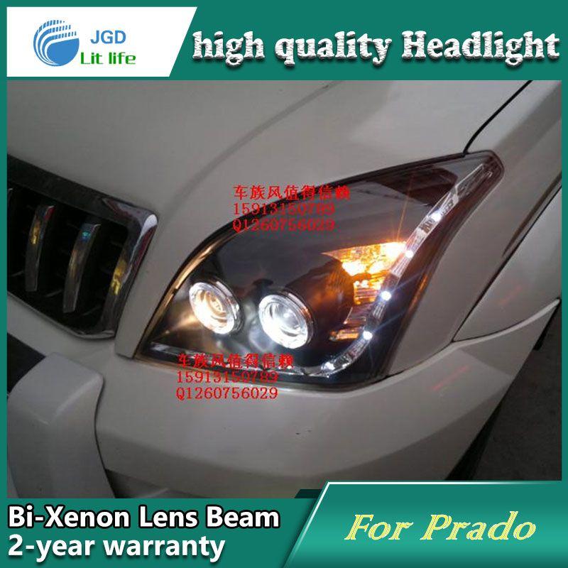 Car Styling Head Lamp Case For Toyota Prado Fj120 Headlights Led Headlight Drl Lens Double Beam Bi Xenon Hid Accessories Led Headlights Car Lights Car