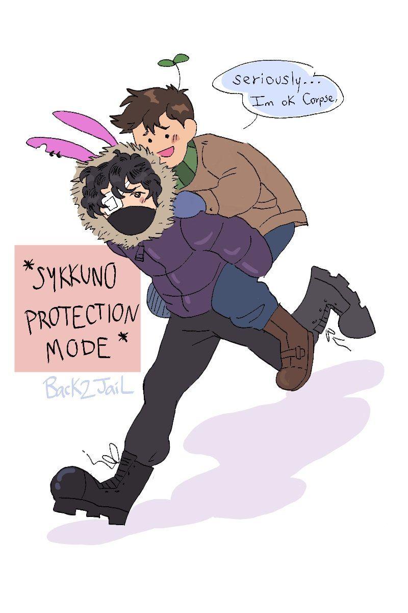 Corpse giving Sykkuno a piggyback ride