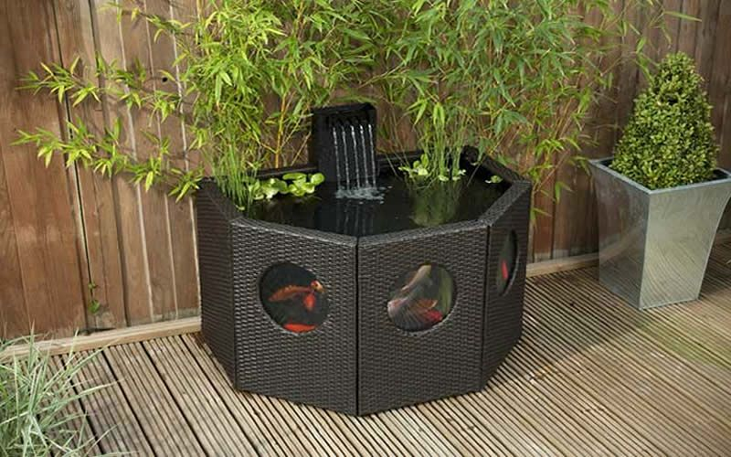 Indoor outdoor pond kits affinity half moon indoor for Fish pond kits