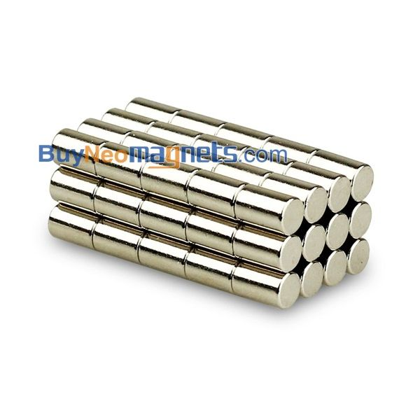 10//50pcs Strong Round Cylinder Magnets 6mm x 6mm Rare Earth Neodymium N35