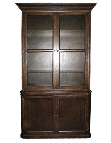 Colonial Display Cabinet Hand Rubbed Brown