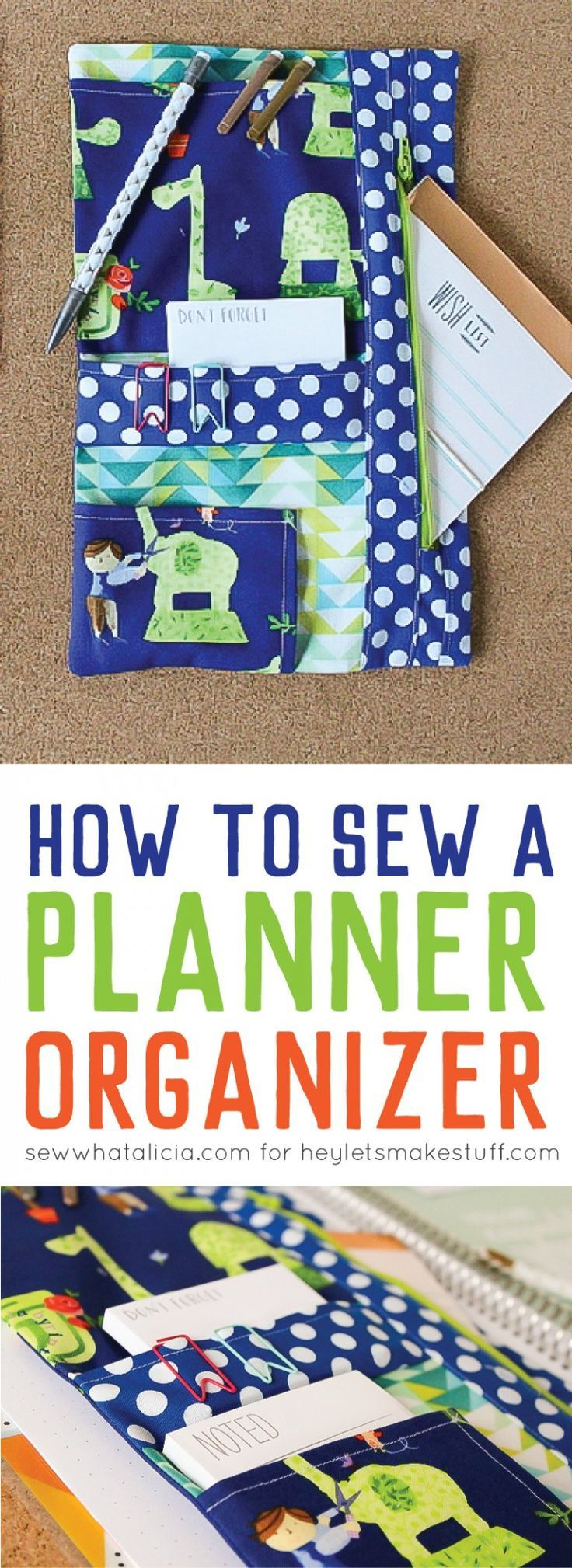 How to Sew a Planner Organizer | Things to Sew | Sewing ...