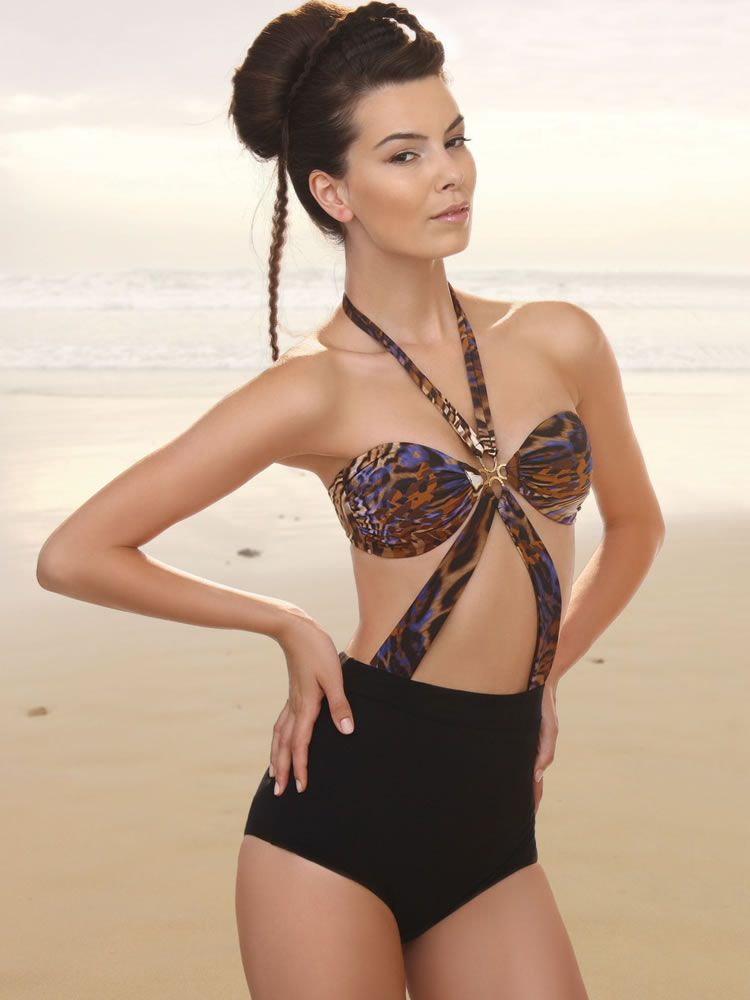 30386cffe5f53 Wild Sphinx High Waist Monokini Swimsuit by Jolidon Prelude Collection
