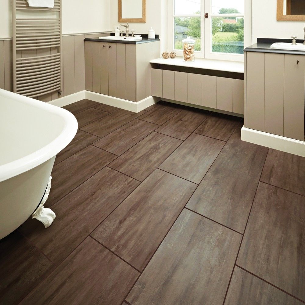 Bathroom With Cream Tiles And Wooden Floor Google Search