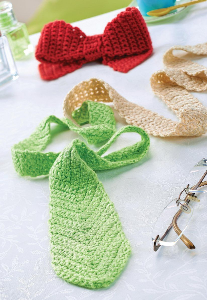 Last-Minute Father\'s Day Project! Free pattern for crochet tie and ...