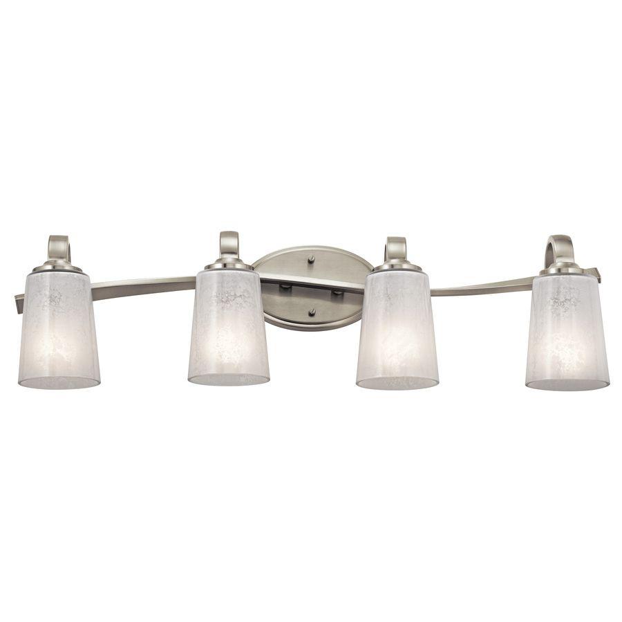 Shop Kichler Lighting 4-Light Brushed Nickel Bathroom Vanity Light ...