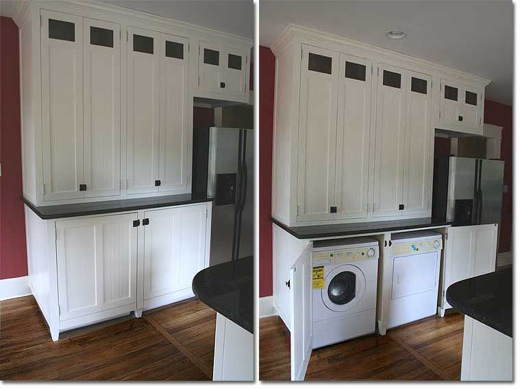 Washer Dryer In Kitchen Google Search Laundry Room Remodel Laundry In Kitchen Modern Farmhouse Kitchens