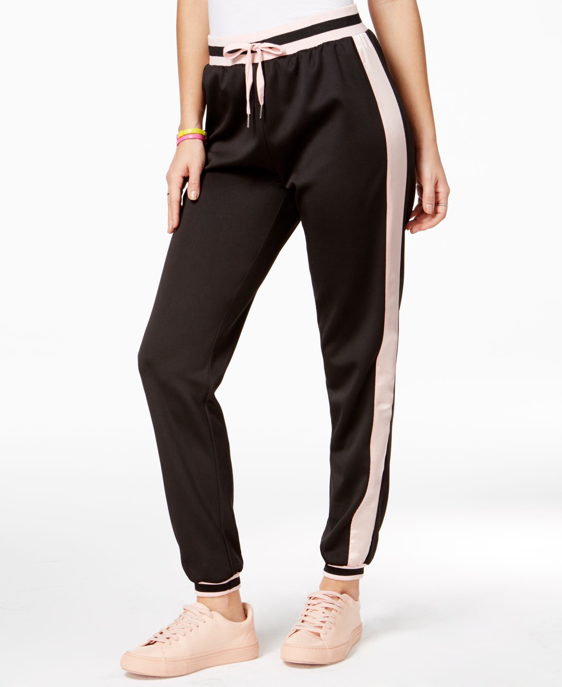 The Edit By Seventeen Juniors' Striped Track Pants, Only at Macy's