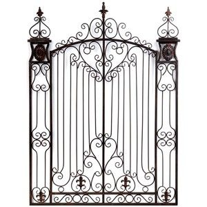 Metal Gate Wall Art | Shop Home Home Decor Wall Art Bronze Garden Gate Metal  Wall