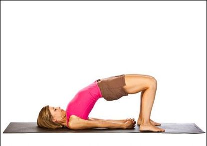 bridge pose is a great heart opener while strengthening