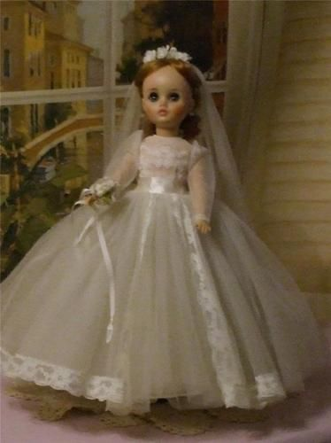 Mouse over image to zoom    Have one to sell? Sell it yourself  Madame Alexander Elise Bride Doll Hard Plastic Dolls Vinyl 1960's