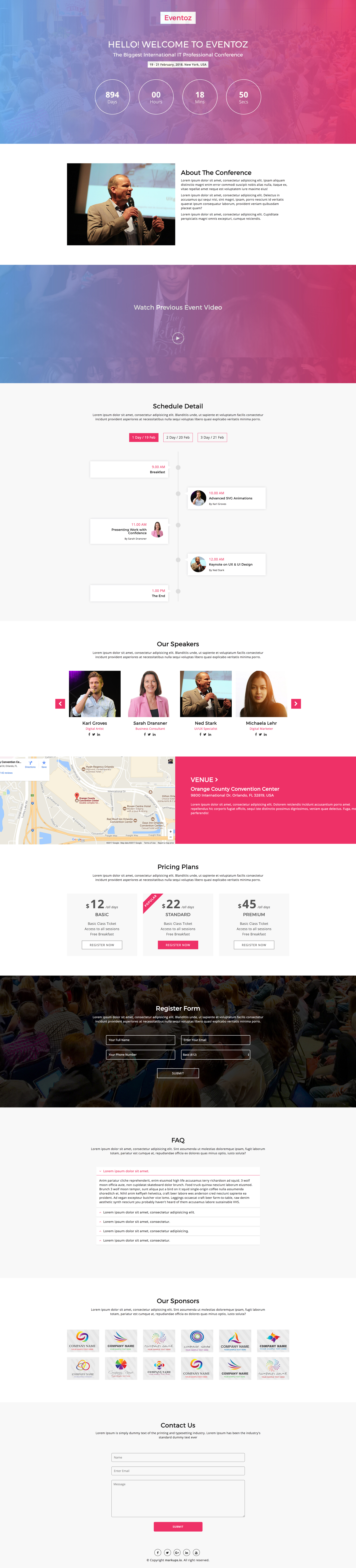 Eventoz Free Event Landing Page Template Download Now Http - Event landing page template free