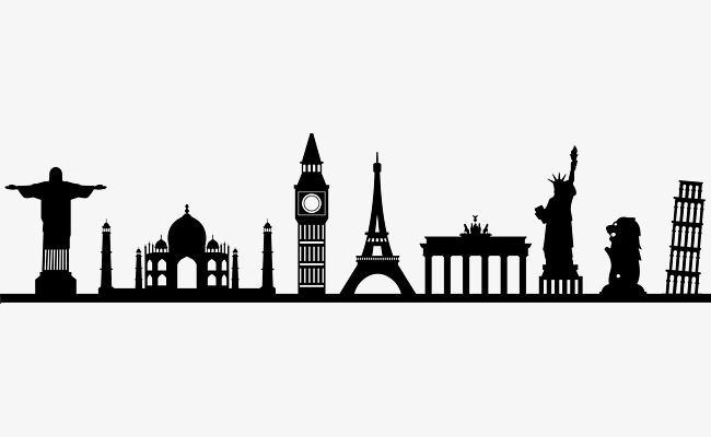 World Tower Eiffel Tower Silhouette Famous Scenic Spot Png Transparent Clipart Image And Psd File For Free Download Travel Wall Decor Wall Painting Decor Diy Wall Painting