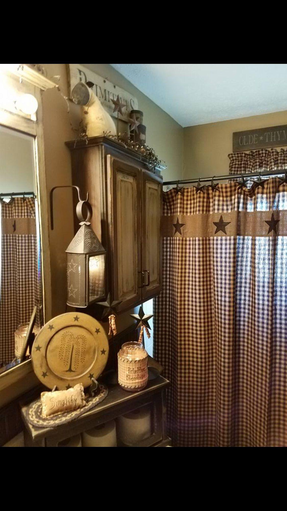 Bathroom Shower Curtains Primitive Bathroom Decor