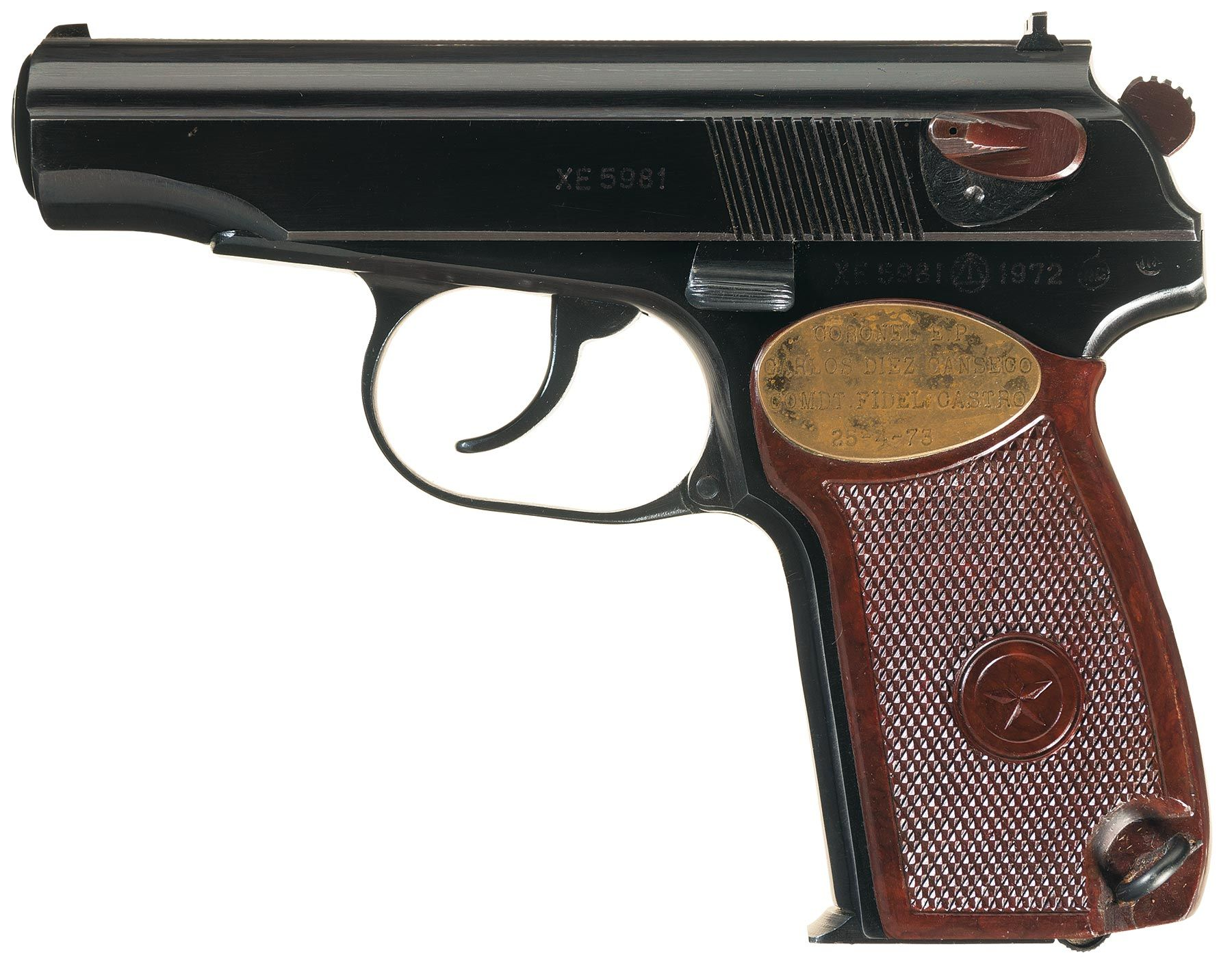 Historic Fidel Castro Presentation Cased Makarov Semi ...