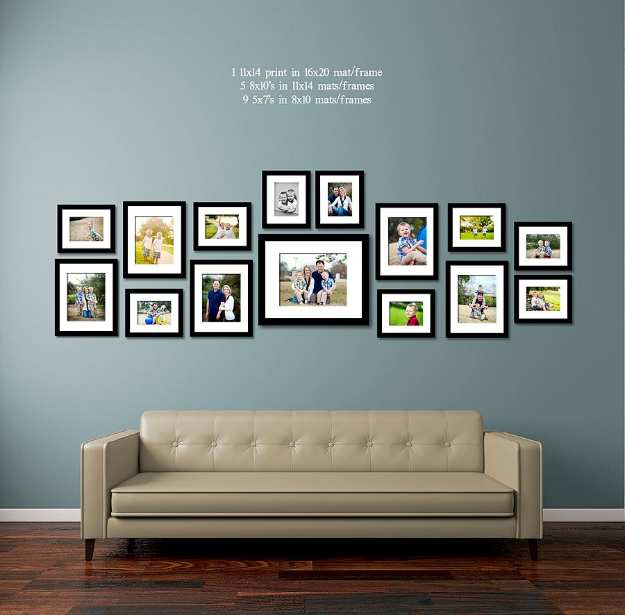 36 Living Room Decorating Ideas That Smells Like Spring: 30 Family Picture Frame Wall Ideas