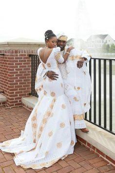 1814da1da10e White and gold African outfits my dream wedding dress | chitenga ...