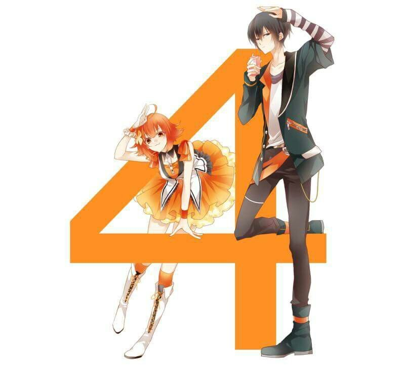 Chisa and Arata    April    Arata Uduki and Chisa Togawa    Tsukiuta the animation    Fluna and Six Gravity #gravityanimation