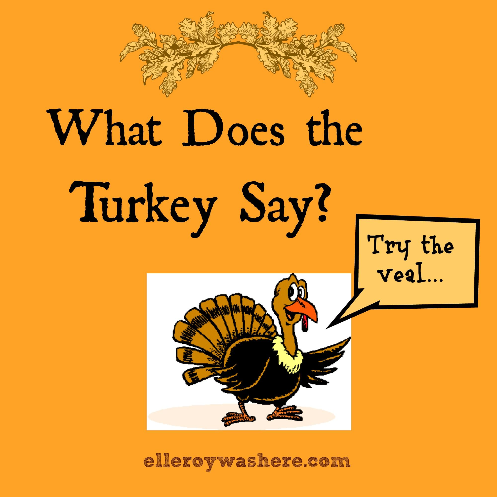 What Does the Turkey Say? (With images) Sayings, Funny