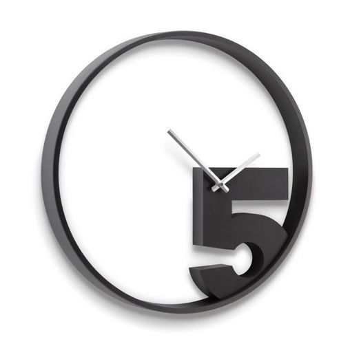 Contemporary Wall Clock Take 5 By Alan Wisniewski Umbra Black Wall Clock Wall Clock Modern Wall Clock Design